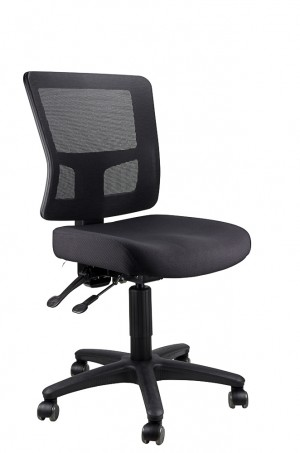 TOLEDO TYPIST BLACK CHAIR SEAT, BLACK MESH BACK  (price excludes gst)