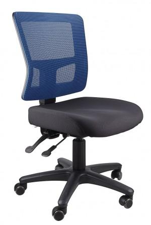 TOLEDO TYPIST BLACK CHAIR SEAT, BLUE MESH BACK  (price excludes gst)