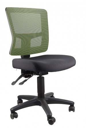 TOLEDO TYPIST BLACK CHAIR SEAT, GREEN MESH BACK  (price excludes gst)