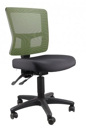 TOLEDO TYPIST BLACK CHAIR SEAT, GREEN MESH BACK  (price excludes gst)