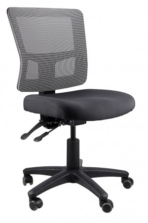 TOLEDO TYPIST BLACK CHAIR SEAT, GREY MESH BACK  (price excludes gst)