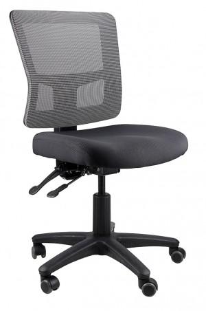 TOLEDO TYPIST BLACK CHAIR SEAT, GREY MESH BACK  (price excludes gst)