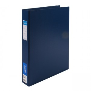 PVC BINDER A3 4 RING 38mm BANTEX #1267-401 BLUE
