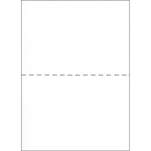 A4 PERFORATED FORM 80gsm CENTRE HORIZONTAL PERFORATION WHITE #A4-CHP/W