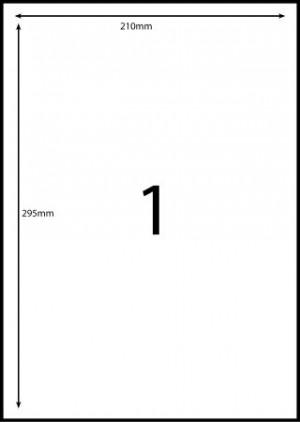 REDIFORM COPIER/LASER LABELS RA4/1C (210x295)  (price excludes gst)