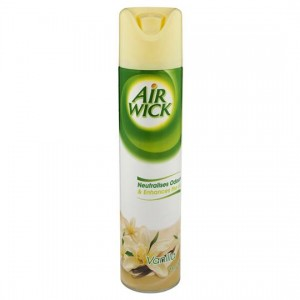 AIRFRESHENER AIR WICK AEROSOL VANILLA 237g (price excludes gst)