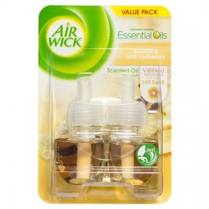 AIR WICK PLUG-IN AIR FRESHENER REFILL VANILLA 2 x 19ml  (price excludes gst)