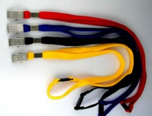LANYARD WITH SAFETY RELEASE & ALLIGATOR CLIP ASSORTED  (price excludes gst)