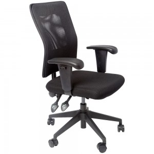 OPERATOR MESH CHAIR RAPIDLINE WITH ADJUSTABLE ARMS BLACK  (price excludes gst)