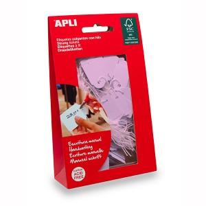 APLI STRUNG TICKETS 22mm x 35mm  PINK  Bag 100