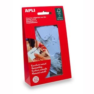 APLI STRUNG TICKETS 22mm x 35mm BLUE  Bag 100