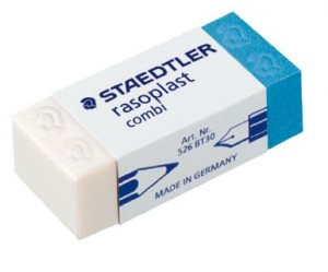 ERASER PLASTIC STAEDTLER DUO-PLAST #BT-30  (price excludes gst)
