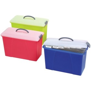 CRYSTALFILE CARRY CASE CLEAR LID/PINK BASE #8007809  (price excludes GST)