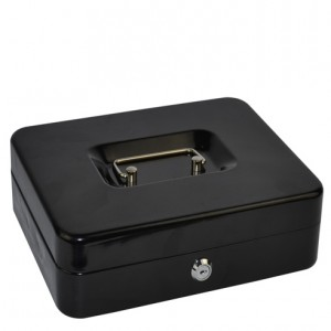 CASH BOX METAL ITALPLAST 10 inch BLACK #I-10 (price excludes GST)