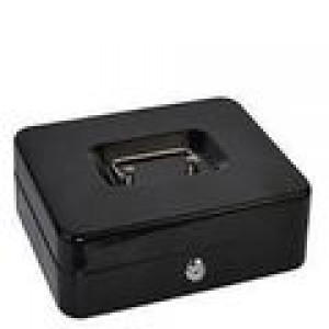 CASH BOX METAL ITALPLAST 12 inch BLACK #I-12 (price excludes GST)