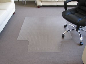 CHAIRMAT MEDIUM PILE H/WEIGHT SMALL 910mm x 1220mm KEYHOLE #AMH-34G (price excludes gst)
