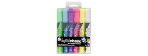 TEXTA LIQUID CHALK MARKER WET WIPE 4.5mm PKT 4 ASSORTED (price excludes gst)