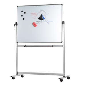 MOBILE WHITEBOARD WITH STAND 1800mm x 900mm DOUBLE SIDED VISION #3051.1875  (price excludes gst)