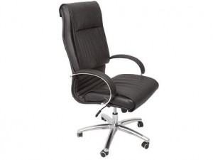 RAPIDLINE CL820 EXECUTIVE HIGH BACK CHAIR CHROME ARMRESTS & BASE (price excludes gst)