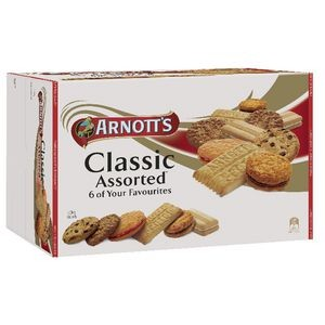 ARNOTTS CLASSIC ASSORTED BISCUITS 1.5KG - 3 x 500g Trays  (price excludes gst)