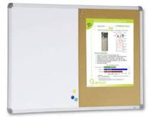 COMBINATION BOARD (WHITEBOARD / CORKBOARD) 1200mm x 900mm (Price excludes gst)