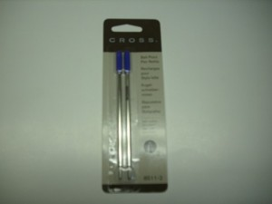 CROSS GENUINE BALLPOINT REFILL MEDIUM BLUE (prices excludes gst)