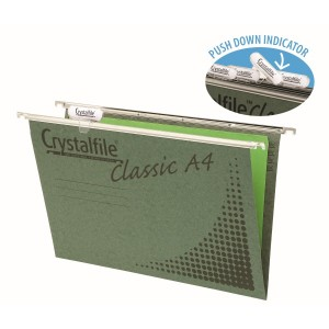 CRYSTALFILE CLASSIC A4 WITH TABS & INSERTS (PKT 20) #111211  (price excludes GST)