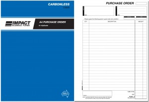 IMPACT CARBONLESS PURCHASE ORDER BOOK A4 TRIP. CS-500 (price excludes gst)
