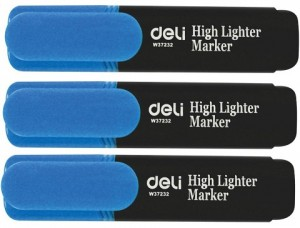 DELI HIGHLIGHTER BLUE Box 10  (price excludes gst)