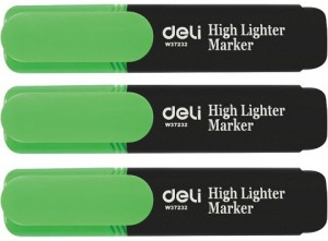 DELI HIGHLIGHTER GREEN Box 10  (price excludes gst)