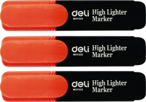 DELI HIGHLIGHTER ORANGE Box 10  (price excludes gst)