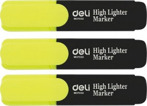 DELI HIGHLIGHTER YELLOW Box 10 (price excludes gst)