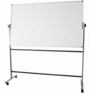 MOBILE WHITEBOARD WITH STAND 1200mm x 900mm DOUBLE SIDED DELI #7882  (price excludes gst)