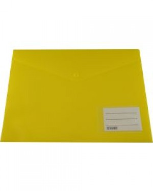 PVC DOCULOPE A4 WALLET WITH BUTTON BRIGHT YELLOW