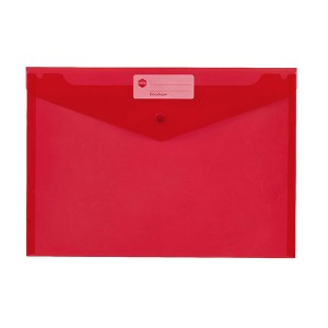 PVC DOCULOPE A4 WALLET WITH BUTTON RED