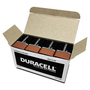 BATTERY DURACELL 9V (BOX 12)