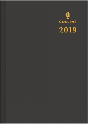 2020 COLLINS DEBDEN ECONOMY CASEBOUND DIARY A4 2 DAYS TO A PAGE BLACK #ECO530