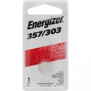 BATTERY ENERGIZER 303/357 (SR44) SILVER OXIDE (PKT 1)