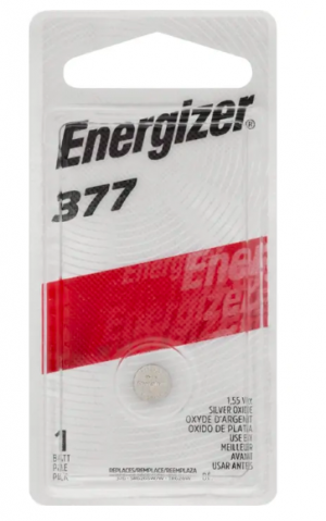 BATTERY ENERGIZER 377 (SR66) SILVER OXIDE (PKT 1)