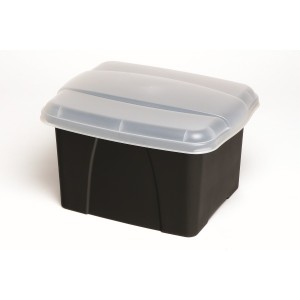 PORTA BOX ENVIRO BLACK/CLEAR LID #8008410  (price excludes GST)