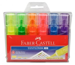 FABER TEXTLINER ICE BARREL ASSORTED WLT 6