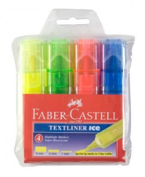FABER TEXTLINER ICE BARREL ASSORTED WLT 4