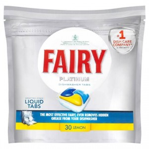 FAIRY PLATINUM ALL-IN-ONE DISHWASHING TABLETS LEMON BOX 30  (price excludes gst)