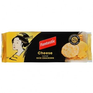 RICE CRACKERS CHEDDAR CHEESE FANTASTIC  (price excludes gst)