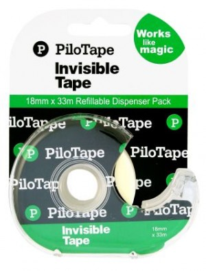 PILOT INVISIBLE TAPE DISPENSER 18mm x 33m #306252 (price excludes gst)