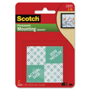 MOUNTING TAPE SQUARES SCOTCH 25mm x 25mm #111 (price excludes gst)