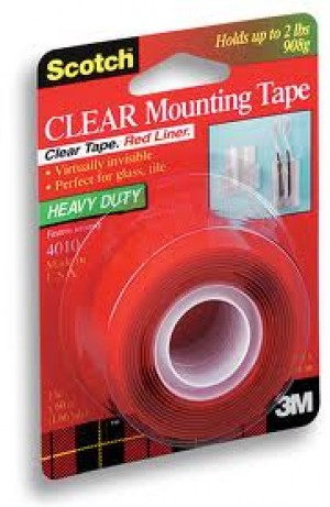 MOUNTING TAPE SCOTCH 25mm x 1.51m CLEAR #4010 (price excludes gst)