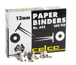 CELCO PAPER BINDERS 13mm #642 (price excludes gst)