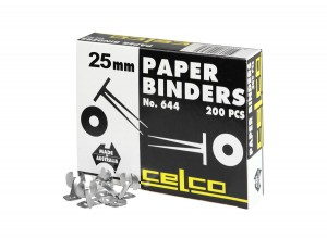 CELCO PAPER BINDERS 25mm #644 (price excludes gst)