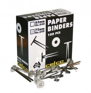 CELCO PAPER BINDERS 70mm #649 (price excludes gst)